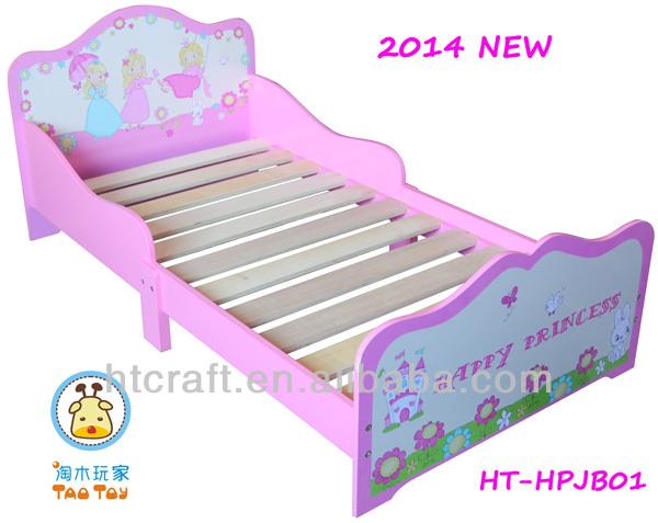 ht hptb01 sch ne moderne rosa holz kinder prinzessin. Black Bedroom Furniture Sets. Home Design Ideas