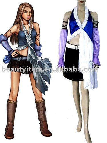 Final Fantasy Xii Yuna Lenne Song Halloween Cosplay Costume Custom Made