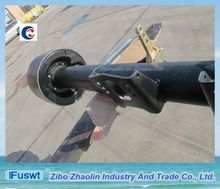 Customer specify FUWA lowbed traielr rear axle assembly lifting the truck