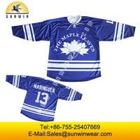 Digital printing canada hockey jersey team number design