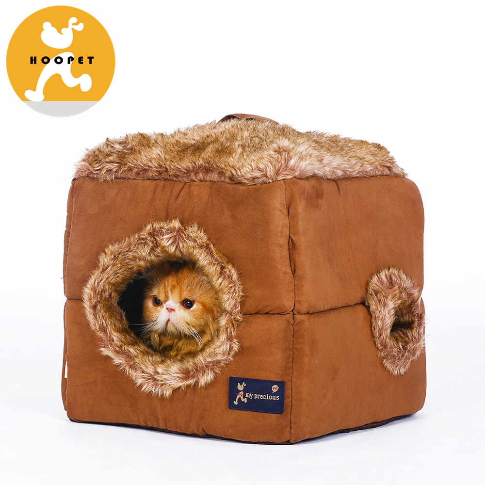 Indoor Soft Fleece Covered dog Pet Dog&Cat Bed Pet House