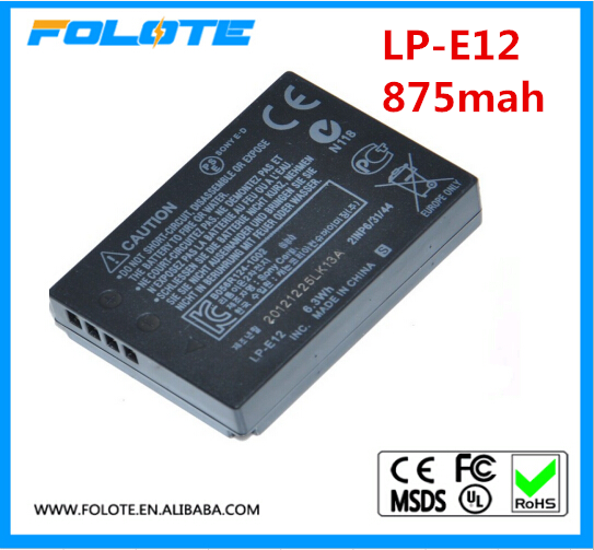Replacement Camcorder battery LP-E12 For Camera EOS M