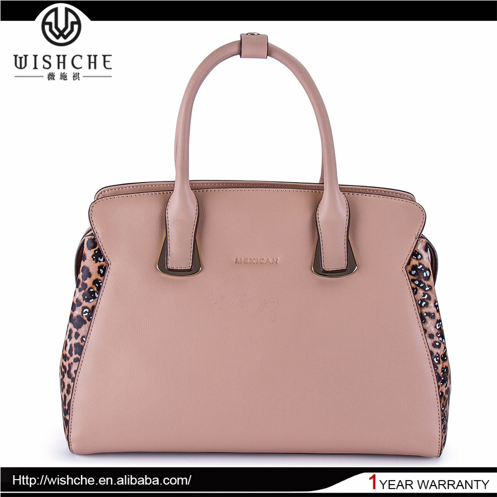 Wishche Wholesale OEM ODM Factory Fashion Brand Bags Ladies Female Shoulder Handbags Genuine Leather Hand Bags Manufacturer W079