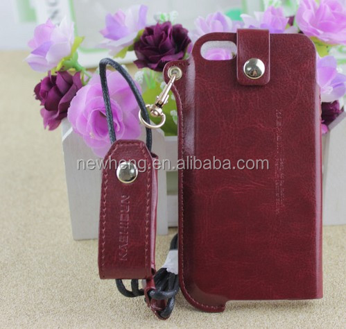 New Luxurious slim design flip slot card standing leather case for iphone5/5s