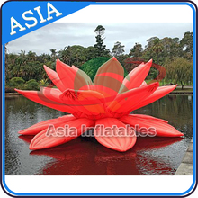 Durable Oxford Cloth giant inflatable flower for outdoor decoration/decorative artificial flower/santa roof decoration