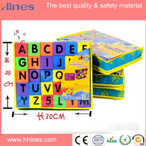high density eva rubber foam building block/EVA toys brick/education