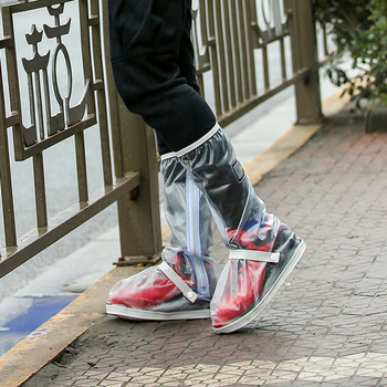 Hot sale custom transparent motorcycle rain shoes cover with belt