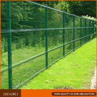 Hot dip galvanized PVC coated welded modular fence panels