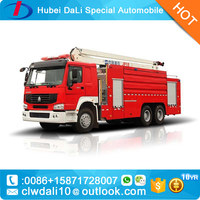 water tower fire truck squirt water tank cheap new Aerial platform fire truck price
