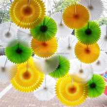 Wedding decoration fiesta colorful hanging tissue paper fans for baby shower