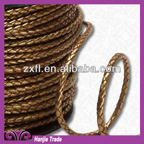 Bulk High Quality Leather cord made from PU and corium for clothing