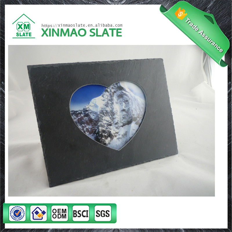 Reasonable price natural slate frame photo rock