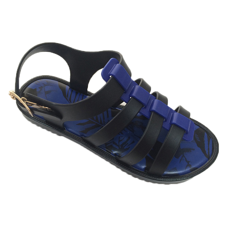 women's footwear brand name flat black strappy sandals