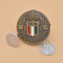 Wholesale cheap price custom metal designer jean buttons for garment