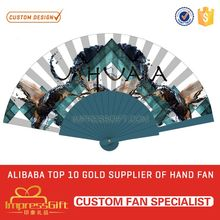 Wholesale customized summer spanish floral folding hand fan with your artwork