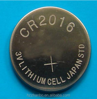 CR2016 3.0v lithium button cell battery