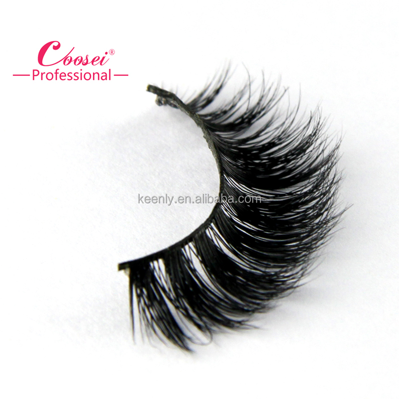 Hot Top grade mink hand mad fake strip 100% Real mink fur eyelash your own brand makeup box packaging