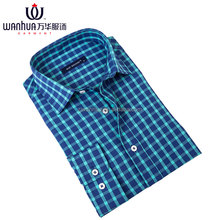 WD129CT Long sleeve check famous men printed shirts brand names
