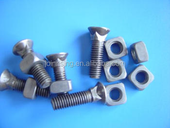 China Plough bolts with square nuts natural finish