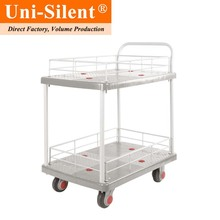 Uni-Silent 150kgs Fashionable Multi-layers Platform Truck Hand Trolley Cart PLA150-T2-HL2-GY