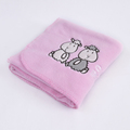 Personalized Polyester Coral Fleece Baby Blankets Wholesale