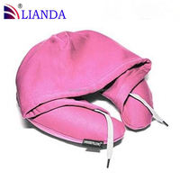 hooded memory foam car pillow,Hoody pillow with washing label,Hooded pillow with carrying bag