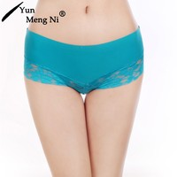 2016 the newest product women sexy underwear hipster young girl ice silk seamless transparent lace panty