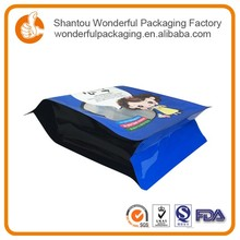 Plastic stand up bag with zip suger packaet with food packaging mini pouch for chocolate