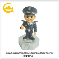 Resin China Home Decor Wholesale Cartoon Policeman Figurine