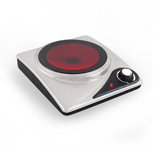 Single burner glass ceramic cooktop