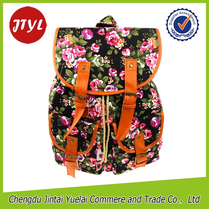 Cheap Girls Vintage Floral Printed Canvas Rucksack Backpack New <strong>School</strong>