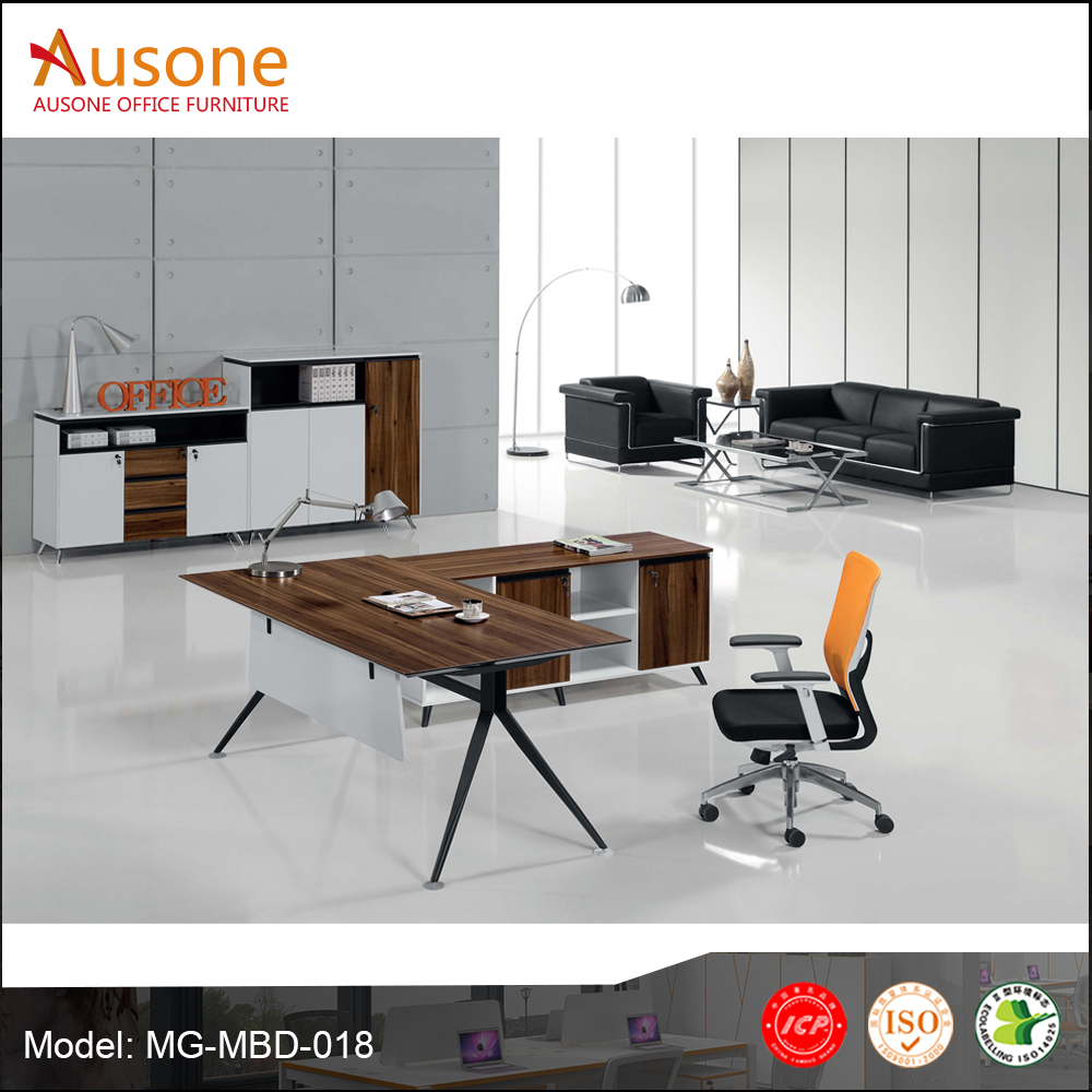 Wholesale boss wooden office counter table office furniture design