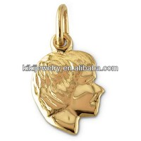 china manufacturer gold plated boy charms