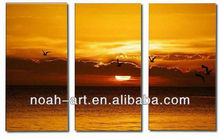3 pieces a set oil painting for wall decoration