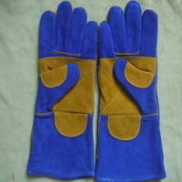 AB grade cow split leather reinforce welding gloves safety protection mechanic gloves