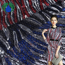 10 years experience custom color spangle sequin lace fabric embroidery