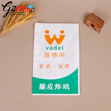 high quality customized grease proof brown kraft fried chicken food bag