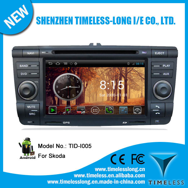 Android system 2 din Car GPS Navigation for Skoda Yeti 2011 with GPS Ipod DVR digital TV box BT Radio 3G/Wifi(TID-I005)