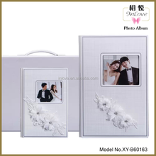 real flower crystal cover wedding wholesale photo album