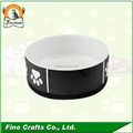 Wholesale ceramic Pet bowl with chalkboard