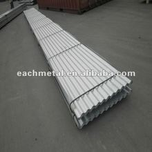 Colored corrugated sheet metal roofing