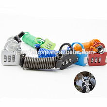 OEM Colorful High Security Steel Wire Rope Digit Combination Cable Lock