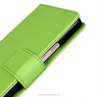 book style PU leather mobile phone case for HUAWEI Ascend P6