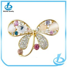 Custom design beautiful opal flower brooch make brooch pin