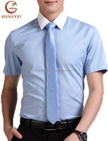 Cotton twill men shirts short sleeve office shirt for men in China