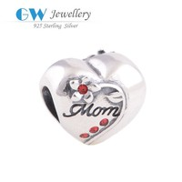 fashion jewellery bangkok in silver heart charm for mothers' gifts