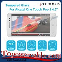 Mobile Phone Accessories Tempered Glass Touch Screen Protector Film Cover For Alcatel One Touch Pop 2 4.5-inch