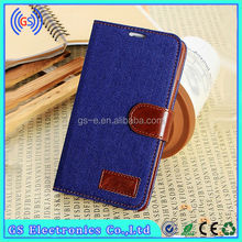 hot selling jeans wallet leather mobile cover case for samsung galaxy s4 active i9295