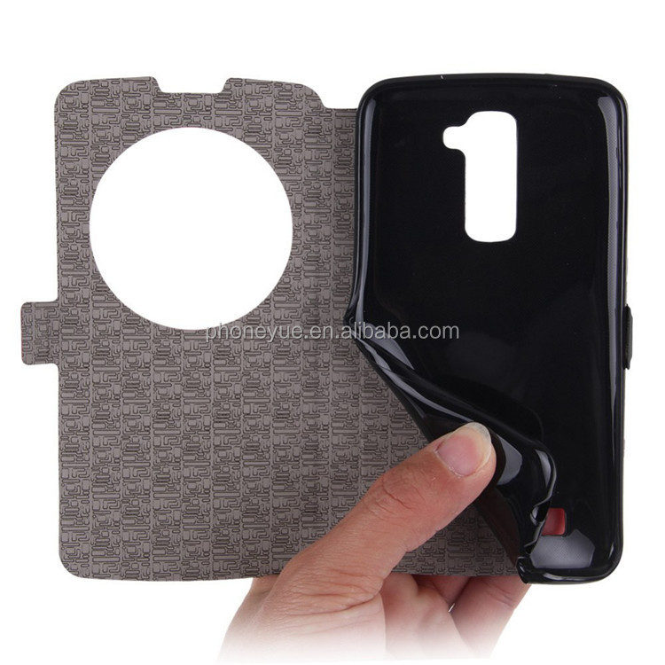 Brand New Magnetic Buckle Window PU Flip Leather Case Cover for coolpad note 3