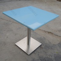 Artificial stone blue solid surface marble inspection table